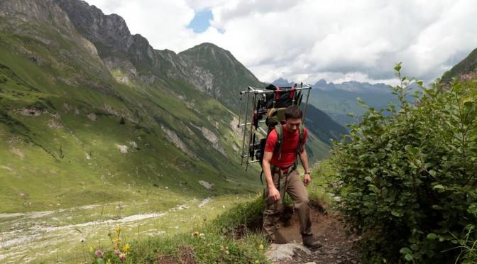 Thomas beim Aufstieg zur Simmshütte