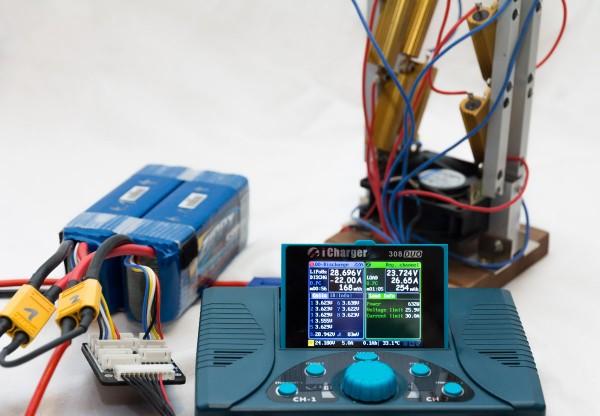LiPo-Akku Prüfstand mit Hochlastwiderstand für Kamera-Drohnen