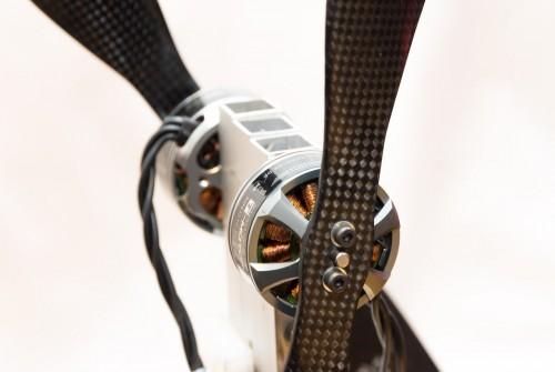 Am Prüfstand befestigtes Koaxial Motor-Propeller-Paar für Film-Oktokopter
