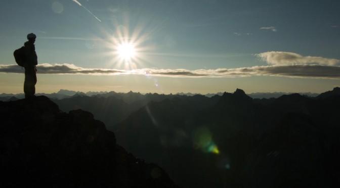Sonnenaufgang auf der Wetterspitze
