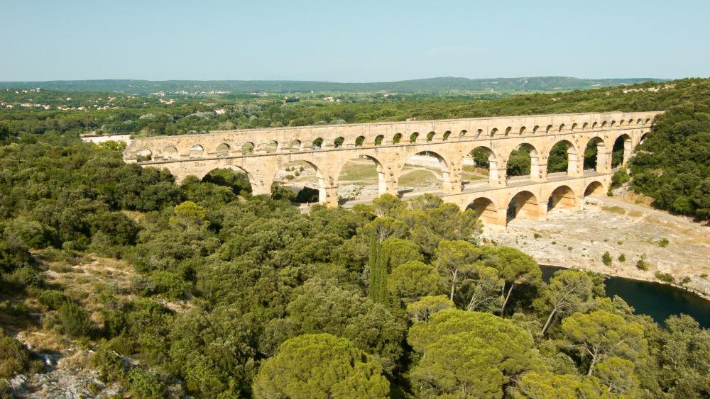 Pont du Gard Luftaufnahme