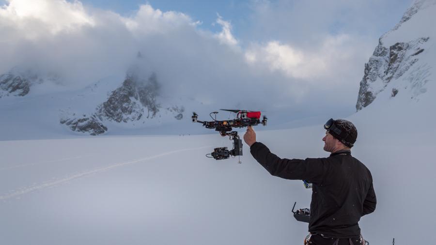 Fliegende Kamera beim Einsatz für Filmproduktion