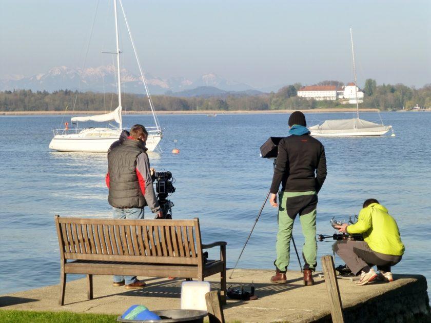 Oktokopter für Luftaufnahme TV und Fernsehen am Chiemsee, 4K-Kamera GH5