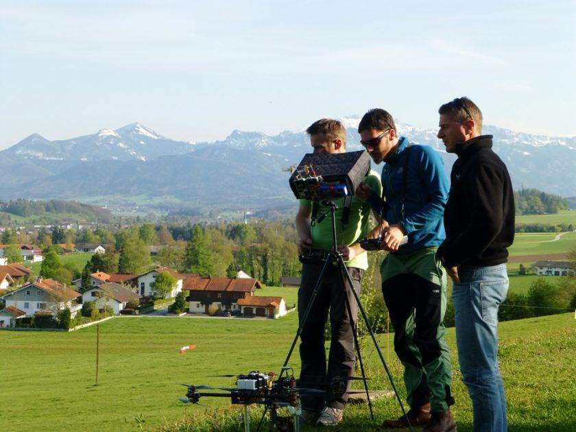 Kameradrohne mit GH5 Kamera für Luftaufnahmen in 4K Auflösung