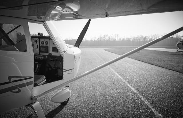 Flugzeug zur Aufnahme von Luftaufnahmen aus großer Höhe