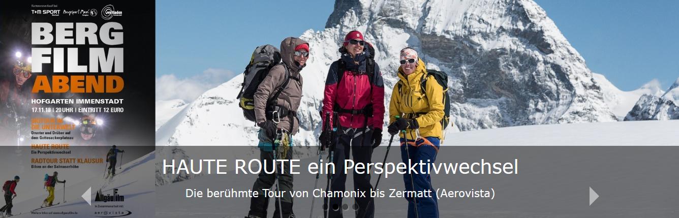 Haute Route – Filmvorführung am 17.11.2018 in Immenstadt